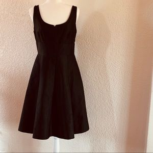 Kate Spade Black pleated fit and flare dress WOW!!